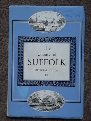 The County of SUFFOLK Official Guide 1959 - 1950's Suffolk Local History