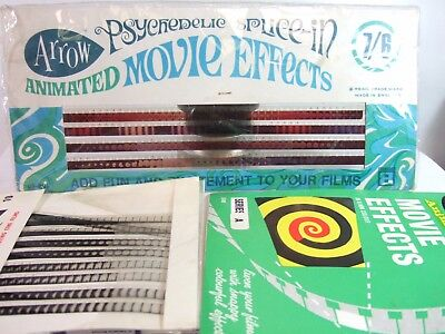 PSYCHEDELIC MOVIE EFFECTS! Splice-In & Animated Standard Std 8 cine film shorts