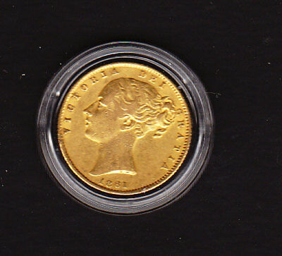 1861   VICTORIA YOUNG HEAD.SHIELD REVERSE  sovereign