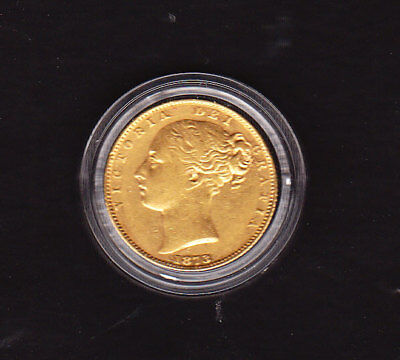 1873   VICTORIA YOUNG HEAD.SHIELD REVERSE  sovereign