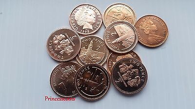 Selection Of 1988 To 2013 Uncirculated Gibraltar 2P Two Pence Coin