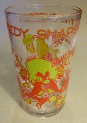 "Vintage 1974 ""Speedy Snaps Up The Cheese"" Glass with YOSEMITE SAM"