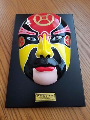 Orient Crafts Heavy Colorful Mounted Mask for Display On Wall Or Desk