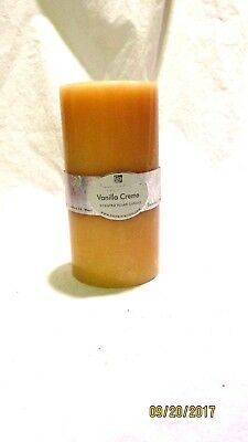 Home Interiors Scented Pillar Candle Vanilla Creme New Vintage