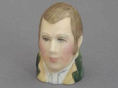 Francesca Character Head Thimble - Robbie Burns, Literary Collection