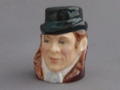 Francesca Character Head Thimble - Bill Sykes, Dickens Collection
