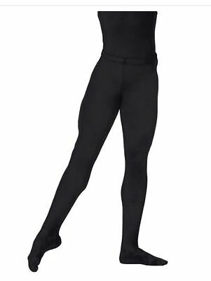 NWT BalTogs 305 Men's Black Footed Tights Nylon Lycra size Small Ballet Dance