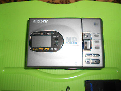 SONY MZ-R35 MD- WALKMAN- MINI DISC RECORDER DIGITAL MEGA BASS- TOP!!!mit 11 Mds!