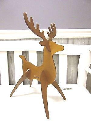 Longaberger Woodcrafts Holiday Medium Reindeer Warm Brown