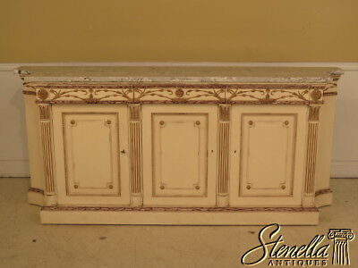 26581: EJ VICTOR Paint Decorated Marble Top Sideboard