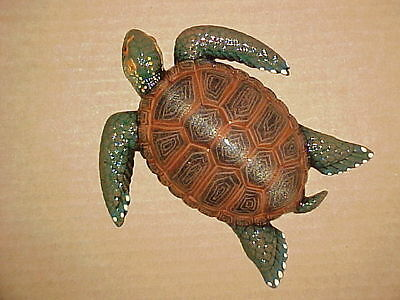 "5"" TURTLE Wall Decor Tropical Fish Beach Nursery Bath Ocean Aquatic Sea Tortoise"