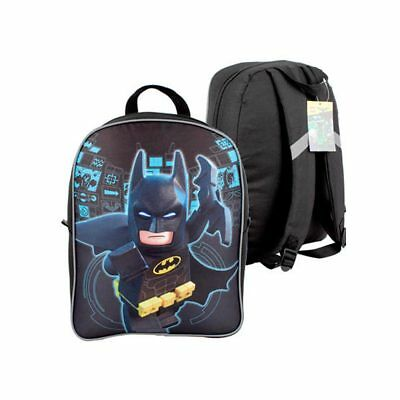 "Batman Lego Movie Backpack School Book Bag Boys Superhero 15.5"" Large Bookbag"