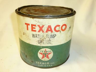 Vintage TEXACO WATER PUMP GREASE Tin Can 3/4 FULL 5 Lb