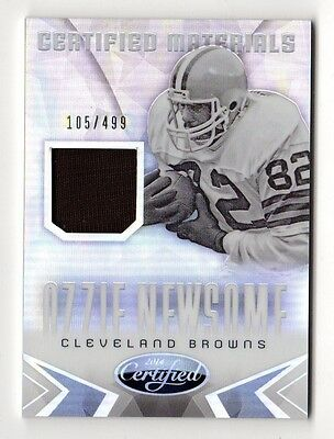 Ozzie Newsome Nfl 2014 Certified Mirror Materials #/ 499 (Cleveland Browns)