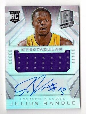 Julius Randle Nba 2014-15 Spectra Spectacular Swatches Signatures #/35 (Lakers)