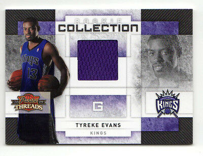 Tyreke Evans Nba 2009-10 Panini Threads Rookie Collection Materials#/250 Kings