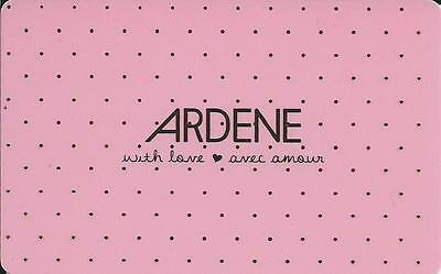 With Love Mint Gift Card From Ardene Canada Bilingual No Value
