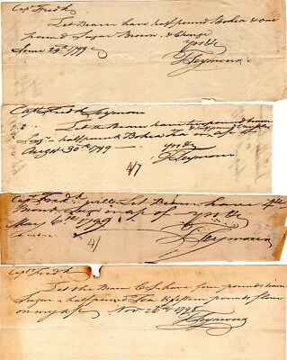 1799, Hartford, Colonel Thomas Seymour, payments to Captain Frederick Seymour