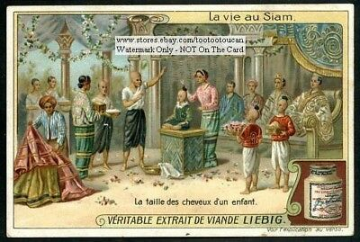 Siam Thailand Child Hair Style Culture c1910 Trade Ad  Card