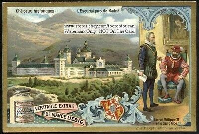 Escurial Castle Madrid Spain Royalty c1905 Trade Ad Card