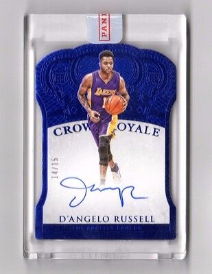 D`angelo Russell Nba 2015-16 Panini Preferred Autographs Blue #/15 ( Lakers)