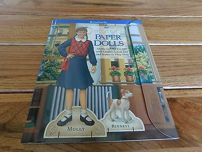 American Girl Molly Paper Dolls With Background Scenes Sticky Dots New