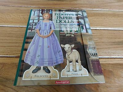 American Girl Felicity Paper Dolls With Background Scenes Sticky Dots New