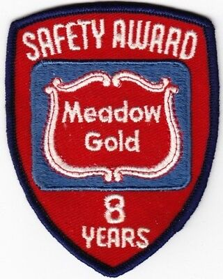 Meadow Gold Dairy Products Company Safety Award Patch
