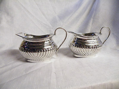 Vintage Viners Silver Plated Sauice/cream Jugs Alpha Plate Viners