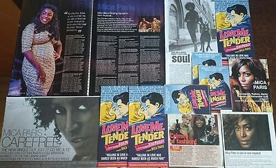 Mica Paris  - Magazine Advert /Cuttings/Flyer Collection