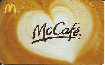 MCDONALD'S McCAFE 2013 MINT GIFT CARD FROM CANADA BILINGUAL NO VALUE