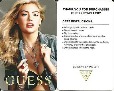 Sexy Girl Mint Jewellery Card 2011 From Guess Canada No Value Not Gift Card