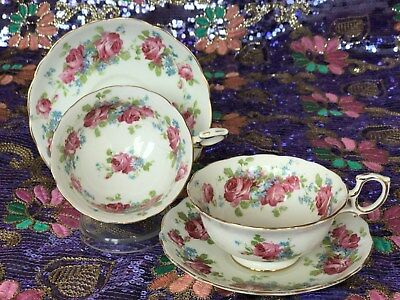 Hammersley Tea Cups & Saucers. Vintage Tea Party! Edwardian Roses. 1912-1939