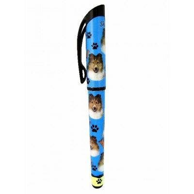 Sheltie Dog Replaceable Gel Pen Black Ink
