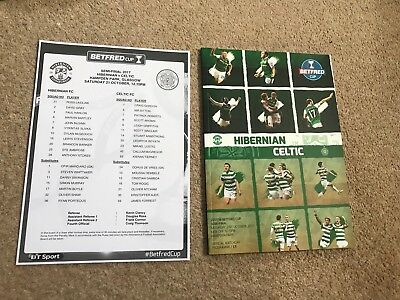Hibs v Celtic Oct 21st 2017 Scottish League Cup Semi Final Mint