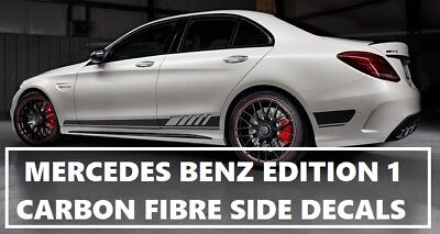 AMG C63 Edition 1 Carbon Fibre Fiber Side Decals - Mercedes Benz C Class W205