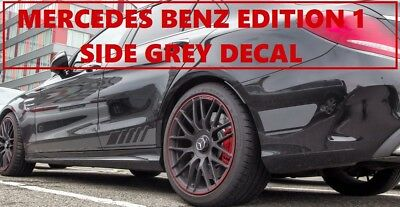 Grey AMG C63 Edition 1 Side Stripe Decals Stickers - Mercedes Benz C Class W205