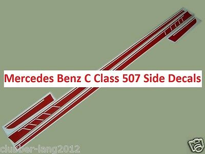 Red AMG Edition 507 Side Stripe Decals Stickers Mercedes Benz C Class W204 W205