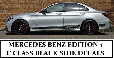AMG C63 Edition 1 Side Stripe Gloss Decals Stickers - Mercedes Benz C Class W205