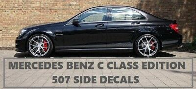 Grey AMG Edition 507 C63 Side Stripe Decals Stickers Mercedes Benz C Class W204