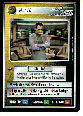 Star Trek Ccg Q Continuum Rare Card Mortal Q
