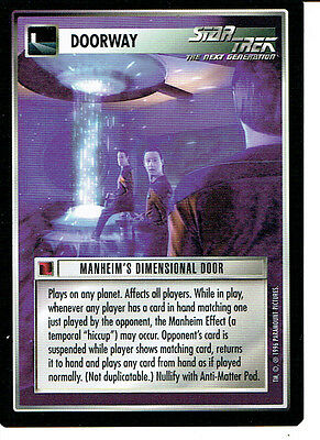 Star Trek Ccg Q Continuum Rare Card Manheim's Dimensional Door