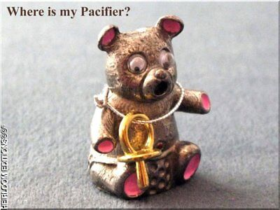 Teddy Bear Thimble with Pacifier