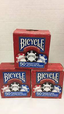 3 Poker Chips -150 Count 8 Gram Clay -3 Values -Bicycle Brand Tournament Quality