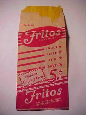 1930's FRITOS 5¢ Bag - Golden Chips of Corn - I think it is quite rare