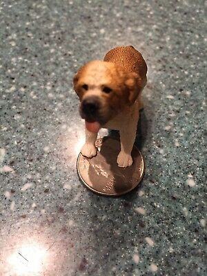 "SAINT BERNARD Dog Tiny Miniature Resin Animals Figurine Approx 2"" x 1.5"""