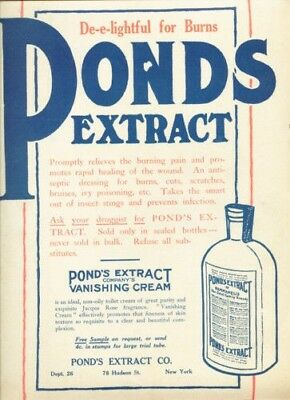1910 Ponds Extract Vanishing Cream Burn Medical Quack 12193