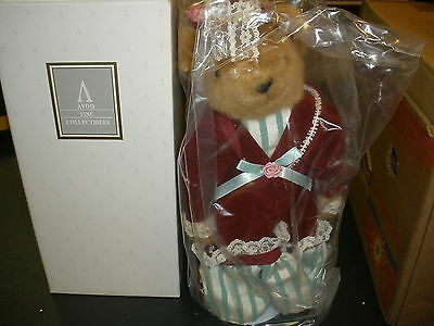 "New Vintage Avon 13"" Victorian Teddy 1995 Collectibles Teddy Bear W/ Stand & Coa"