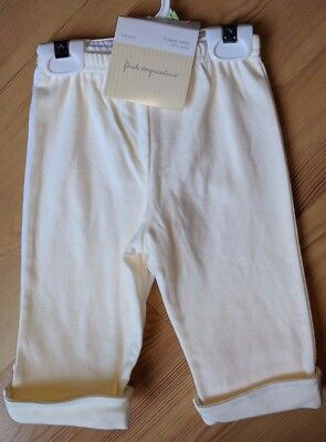 NWT Infant First Impressions 2 Pack Pants Yellow White Size 3-6 Months