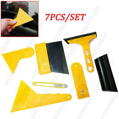 7pcs Car Tint Cleaning Wrap Window Tool Kit for Auto Vinyl Squeegee Scraper Film